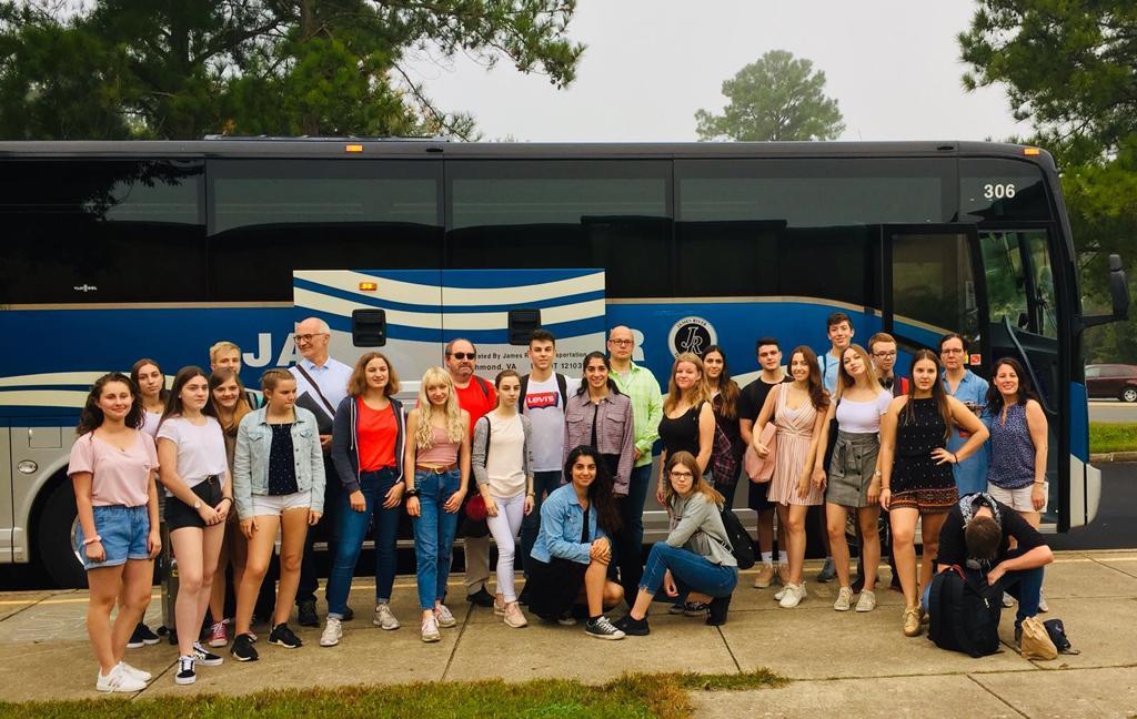 USA Gruppe am Bus